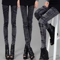 Spring and autumn thin elastic skinny pants pencil pants  women's legging black trousers autumn