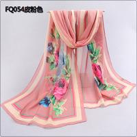 2014 spring and autumn thin silk scarf long design women's scarf chiffon silk scarf