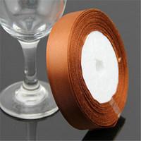 "Brown Grosgrain Ribbon Wedding Decoration Ribbons  0.6""(2cm) Width 25 yards(23-25 m) Length"
