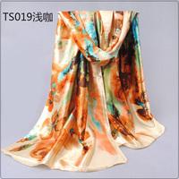 2014 chiffon silk scarf spring and autumn silk scarf silk women's scarf