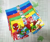 Free shipping retail baby child cotton underwear kids cartoon panties spiderman boys boxer briefs children fashion underpants