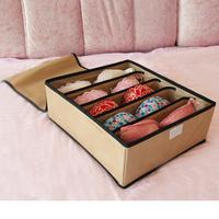 European style Eco-friendly non-woven fabrics folding 5 lattice bra box storage box