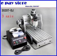 free shipping, 220V  CNC router 3020T-DJ,engraving machine cnc 3020 ,