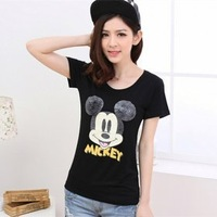 2014 New Fashion Design Soft Material o-neck Cute Cartoon Printing For girls short sleeve tshirt women