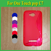 1 X S Line Soft TPU Case Cover For Alcatel One Touch Pop C7 OT 7041 7041D