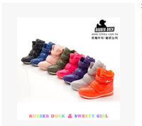 Free shipping 2014 new design Rubber duck waterproof snow boots jogging women shoes multicolor four seasons ! Hot sale