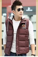 Men Warm Vest 2014 Brand New Design Fashion Men's Sleeveless Jacket Casual Mens Coat Cotton-padded Winter New