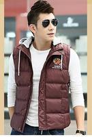 Men Warm Vest 2014 Brand New Design Fashion Men's Sleeveless Jacket Casual Mens Coat Cotton-padded Winter New