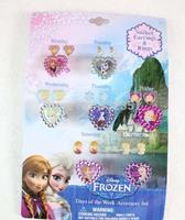 New arrival 10set  (70 pcs) Lovely Frozen Children Rings, gave the little girl a gift