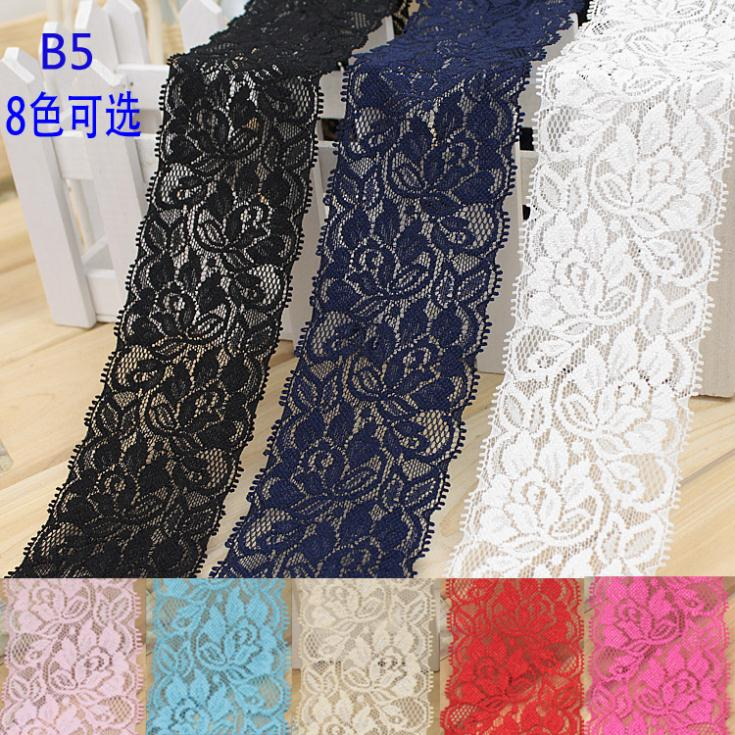 free shipping,1 m from the sale lot 100% cotton 6.5cm width Lace for fabric/home furnishing warp knitting Clothing accessories(China (Mainland))