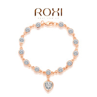 ROXI rose golden austrian crystal bracelets,gorgeous strips,Top High quality best Christmas jewelry gift 2060001775 AN