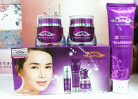 Free shipping beauty flower White Revitalizing 2 -in-one suite water pores acne cream suit