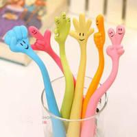 Free shipping 10 pcs/lot Wholesale Novelty Ball pen Cute Cartoon Fingers Ballpoint Pen Children's School Supplies Kids Gift