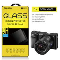 Deerekin Tempered Glass LCD Screen Protector for Sony Alpha A6000 (ILCE-6000) Digital Camera Shield Film