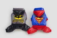 10pcs/lot  2015 Factory  Sale Superman Batman Pet Dog thickness coat warm jacket hoody Outerwears New year clothes LPC902-21