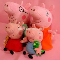 4Pcs/Lot Kids Girls 19CM Plush George Peppa Pig Family 30CM Daddy&mommy  Doll Stuffed Toy Gift
