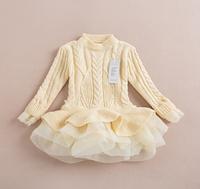 2014 New,girls sweater tutu dress,children knitted dress,4 colors,2-8 yrs,5 pcs / lot,wholesale,1769