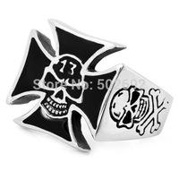Cross titanium Men finger ring accessories men's sculpture skull titanium ring ve308