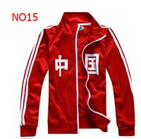 2014 New Arrival Free Shipping Zipper Hoodies Outwear Track Suits Men's Sportswear Coat Basketball Jacket Men