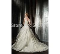 Custom Size Ball Gown wedding dress High Quality New Free shipping white/ivory charming Applique Taffeta wedding gown