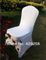 Russian Free Shipping 100pcs White Spandex/Lycra Chair Cover for Wedding,Banquet,Hotel