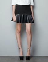 #YZX725 New 2014 Fashion Women Girls' Mini Short Skirts Lovely Denim Skirt Free Shipping