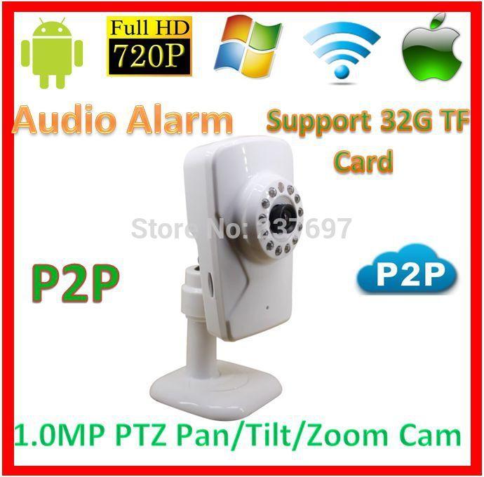 CCTV System 720p wifi p2p PTZ IP Baby Moniter Kamera CCTV Support 32GB TF Card Audio Alarm Wireless1.0MegaPixel Network WebCam(China (Mainland))