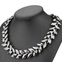 2014 new design fashion black stone chain necklace for women
