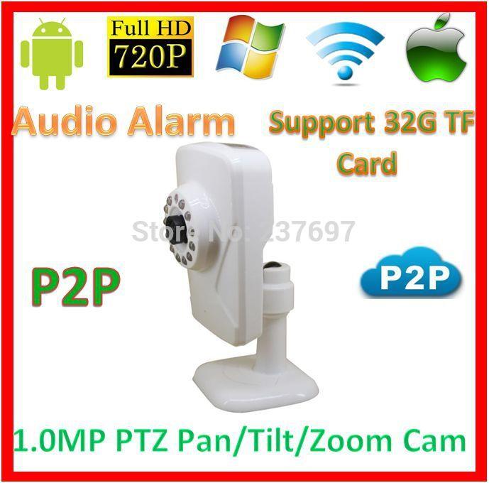 Home Safe 720p wifi p2p PTZ IP Baby Moniter Kamera CCTV Support 32GB SD TF Card Audio Alarm Wireless1.0MegaPixel Network WebCam(China (Mainland))