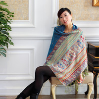 Bohemia ultralarge technology jacquard knitted scarf air conditioning scarves