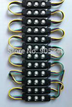 20pcs/lot 5050 RGB 3leds black shell injection led module ,epistar chip,12V,0.75w, RGB led module 2 years warranty,led signs(China (Mainland))