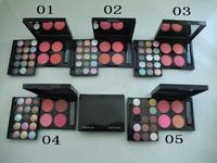 new popular!1pcs retail 2014 new high quality NOA272 makeup kit 15colors eyeshadow+4 colors blush free shipping