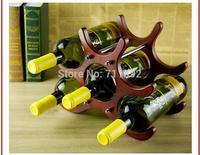 handmade Retro European Solid wood wine rack Creative holder wine glass rack iron art Home decoration