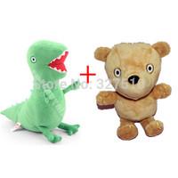 2 pcs/set pelucia peppa pig family pepa toy 17cm plush dinosaur and little bear stuffed girls kids gift doll