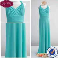 Goingwedding V-neck Flower Girl Dress Of 9 Years Old A-line Pleated Chiffon Apple Green Flower Girl Dresses 2014 HT023