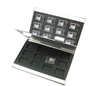 Aluminum Portable Memory Card Case card holders for microSD CARD 24 in 1