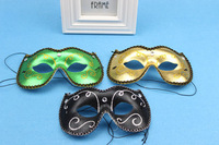 (300 pcs/lot) New Top Handmade Half-face Women Plastic Assorted Color Party Masks Festive & Party Supplies Free Shipping