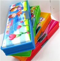 Cartoon plastic pencil case box learning papelaria organizador desk organizer prateleira organizadores pencilcase stationery