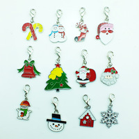 Wholesale Multifunction Christmas Gift  24 Pcs Mix Unique pendant charms Enamel Alloy Christmas Charms Free shipping DZ1283