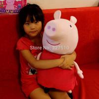 62cm plush peppa pelucia peppa pig family pepa toy stuffed girls kids gift doll