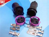 3 line high power car waterproof connector 3 core 3p 6.3 waterproof plug