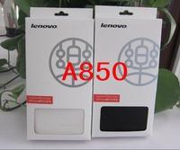Original Lenovo logo leather flip case lenovo A850, A850+ free Screen Protector
