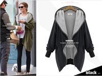 XL-5XL New 2014 Casual Women Hoody Plus Size Autumn Winter Sweatshirts Hooded Zip Cardigan Coat Fat Girls Pullover Hoodies
