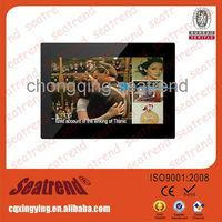 Big screen digital photo frame support music/video OEM muti-functional large size big screen 15 inch digital photo frame