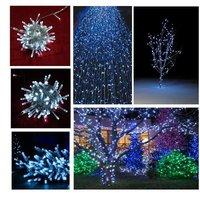 100 LED Flashing Luminary Lamp Chandelier Luminaria Christmas Decoration Lamps 10M Luminous Stars Pendant String Lights Lighting