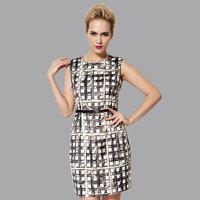 free shipping    Quality silk one-piece dress 100 mulberry silk print 2014 vintage large luxury slim plus size