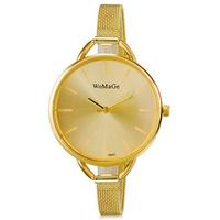 WoMaGe 9940 Women's Stylish Analog Wrist Watch with Fashion Woman Roman Golden Metal Band (Golden)
