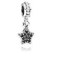 Fashion 925 Sterling Silver Cubic Zirconia Star Design Bead Charm  for Women Jewelry