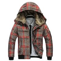 2014 New Winter Men's Clothes Down Jacket Cotton Coat OutdoorsThick Warm Parka Plus Size 3 XL