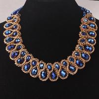 Free Shipping 2014 New Stylish Gold Plate Chunky Choker Bib Collar Statement Necklace Fashion Thick Chains Jewelry